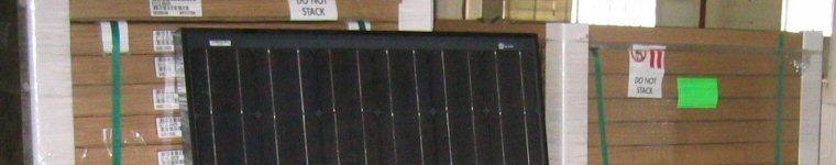 Stack of BP Photovoltaic Panels