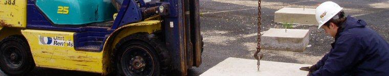 United Rentals Forklift in Action