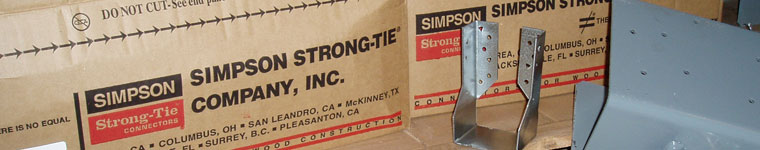 Simpson Strong-Tie Connector and Boxes