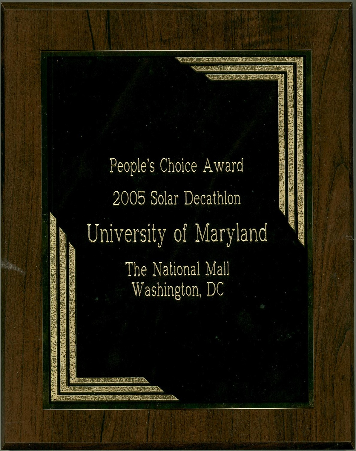 People's Choice Award Plaque